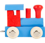 Small Foot Letter Train Blue and Red Wood