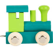 Small Foot Letter Train Green and Petrol Wood