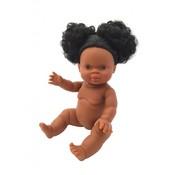 Paola Reina Pop Gordi Meisje Zwart Haar 34 cm