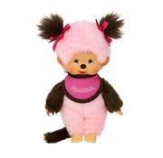 Monchhichi Plush Doll Bicolor Girl Pink