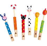 Small Foot Animal Flutes Wood