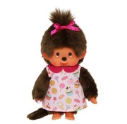 Monchhichi Plush Doll Girl with Candy Dress