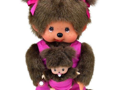 Monchhichi Knuffel Pop Mothercare met Baby 20 cm