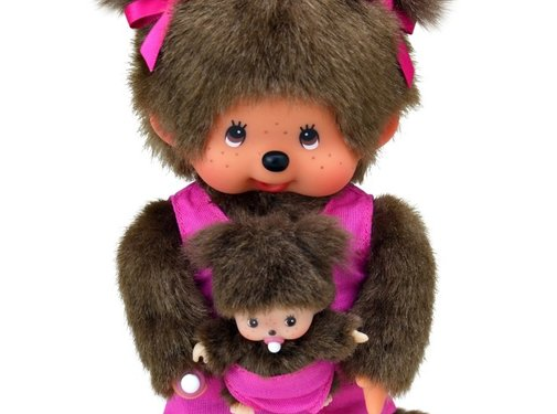 Monchhichi Plush Doll Mothercare with Baby