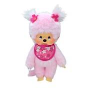 Monchhichi Plush Doll Girl Cherry Blossom
