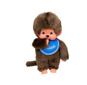 Monchhichi Plush Doll Boy with Slab Blue
