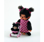 Monchhichi Plush Doll Mothercare with Stroller