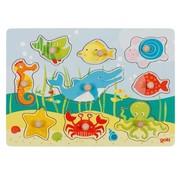 GOKI Button Puzzle Underwater World 9 pcs