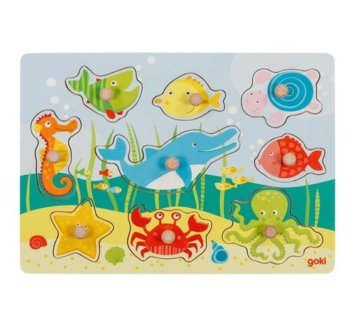 GOKI Knoppuzzel Onderwaterwereld 9 pcs
