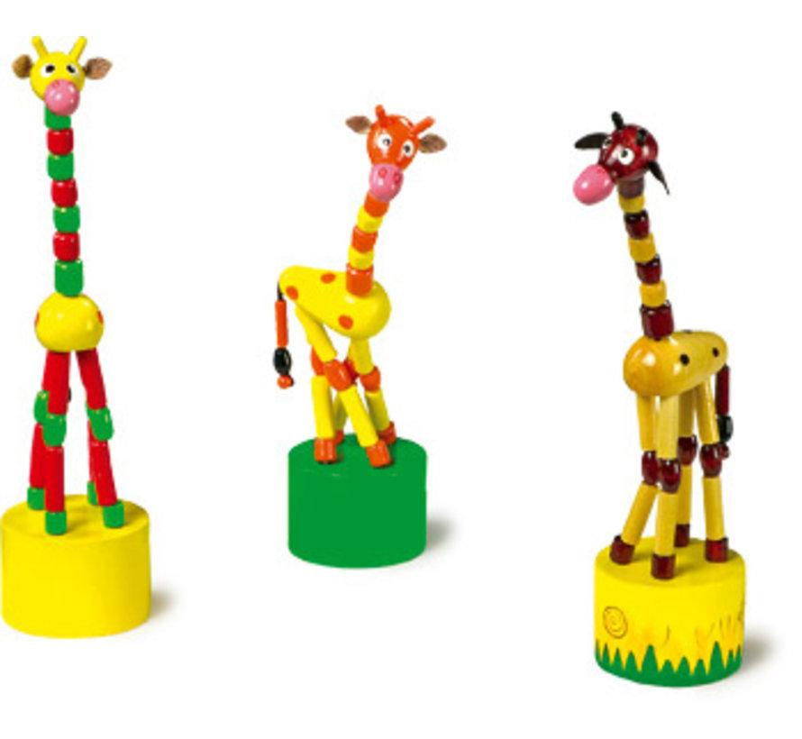 Drukdieren 3-delig Giraf