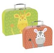 GOKI Suitcases Giraffe and Zebra