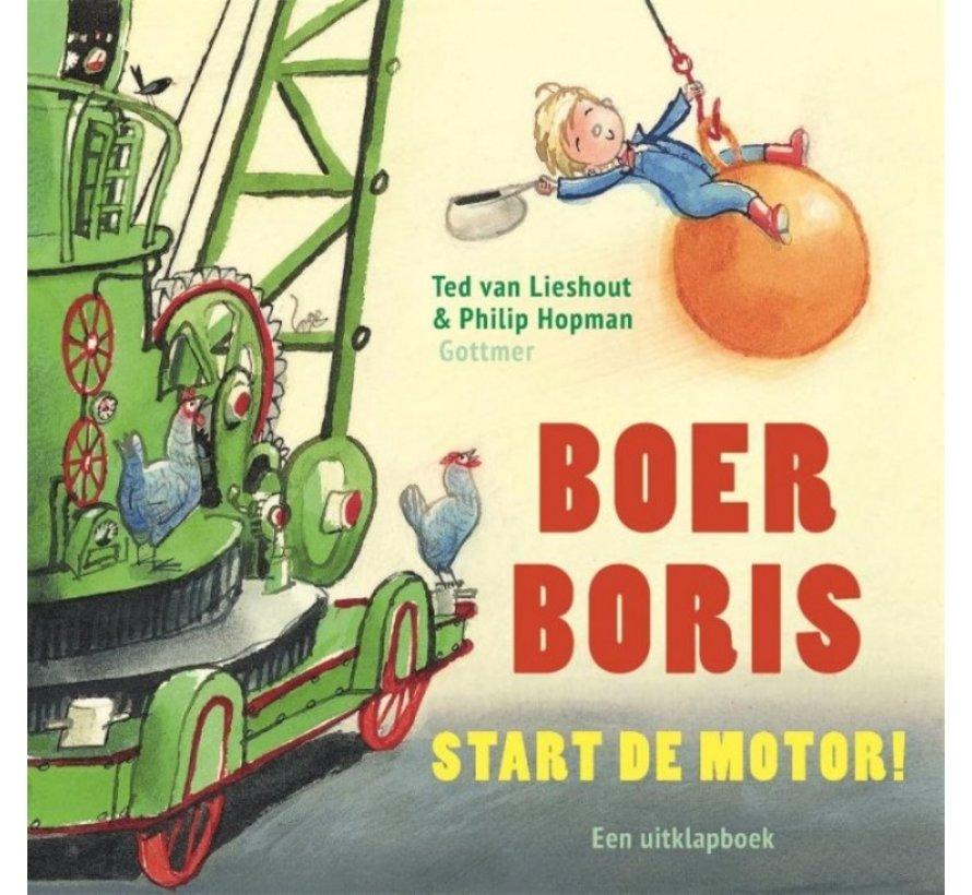 Boer Boris, Start de Motor! (uitklapboek)