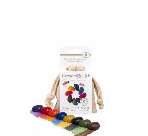 Crayon Rocks 8 Colors in a Muslin Bag