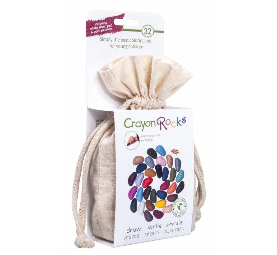 32 Colors in a Muslin Bag