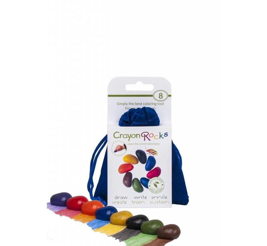 8 Colors in a Blue Velvet Bag