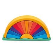 Glückskäfer Regenboog Oranje Geel 16-delig Hout