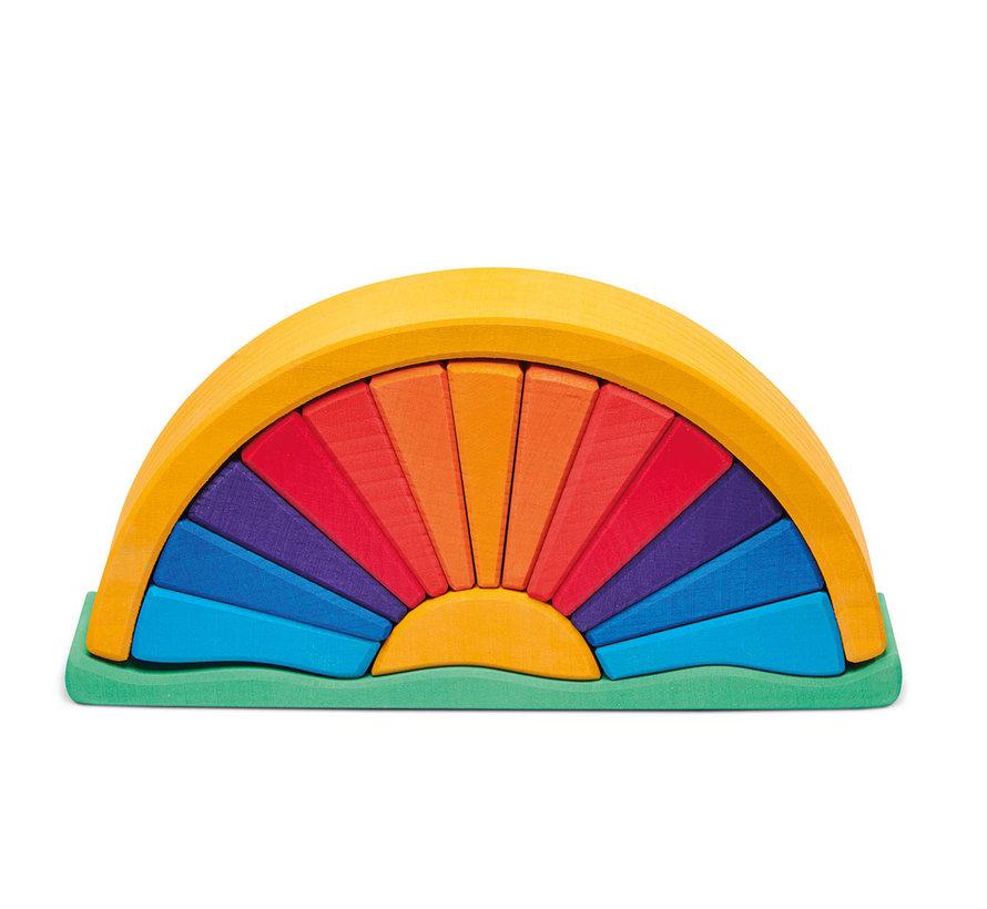 Regenboog Oranje Geel 16-delig Hout