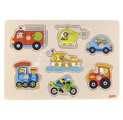 GOKI Lift Out Puzzle Means of Transport 7 pcs
