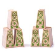 Bigjigs Houten High Level Blocks Set 6-delig