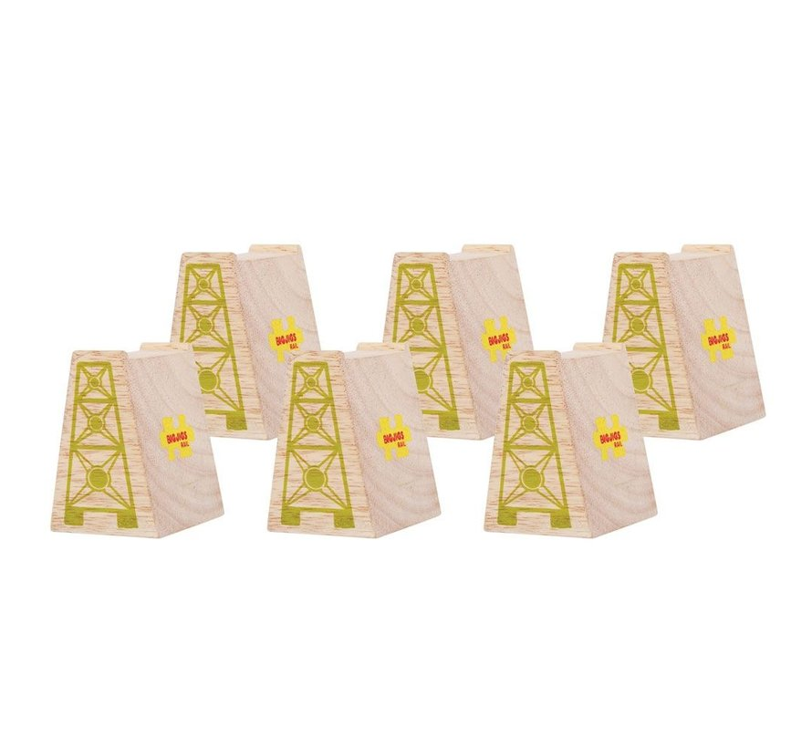 Houten High Level Blocks Set 6-delig