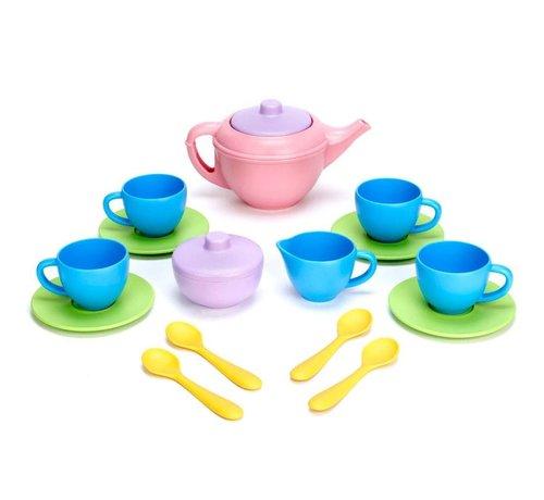 Green Toys Tea Set Pink Teapot