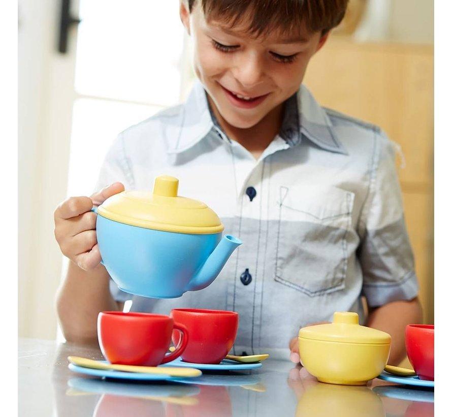 Tea Set Blue Teapot