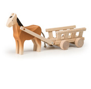 Trauffer Horse with Wagon