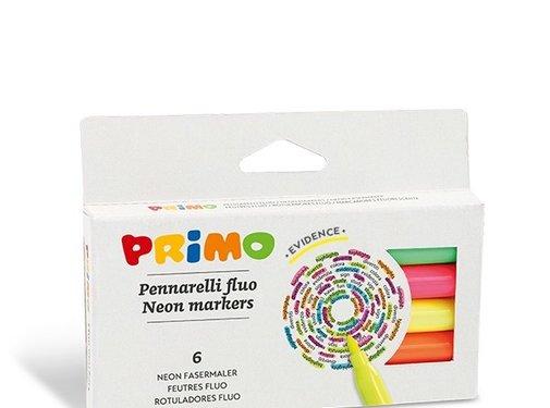 Primo Viltstiften Neon Dun ø2 mm Set 6-delig in doos