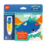 APLI Marine aqua fun book to colour with water