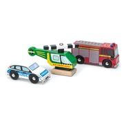 Le Toy Van Emergency Vehicle Set Wood