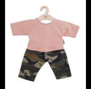 Hollie Poppenbroek en Shirt Camouflage Dusty Roze