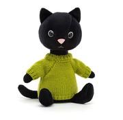 Jellycat Knuffel Kat Kniten Kitten Lime