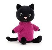 Jellycat Knuffel Kat Kniten Kitten Fuschia