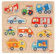 GOKI Lift Out Puzzle Vehicles 10 pcs
