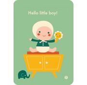 Bora Postkaart Hello little boy