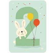 Bora Kaart met Envelop 2 Bunny