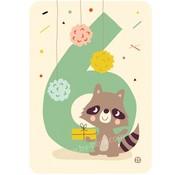 Bora Kaart met envelop 6 Raccoon