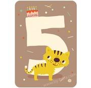 Bora Kaart met envelop 5 Tiger