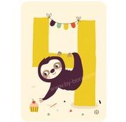 Bora Kaart met envelop 4 Sloth