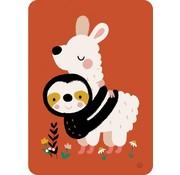Bora Postkaart Sloth alpaca hug