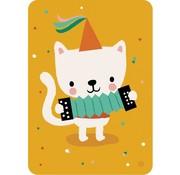 Bora Postkaart Harmonica cat