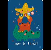 Bora Postkaart Zee Het is feest