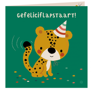 Bora Kaart met envelop Gefeliciflapstaart cheeta