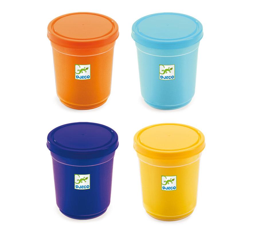 Boetseerklei Oranje Blauw Set 4-delig