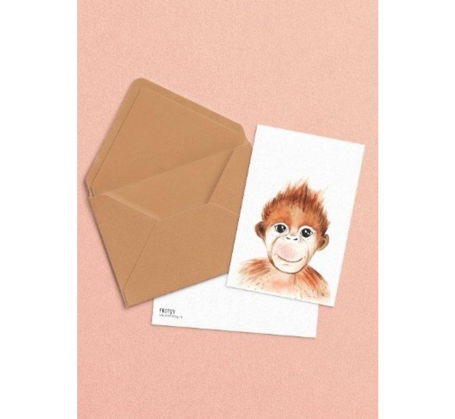 Postkaart Aap