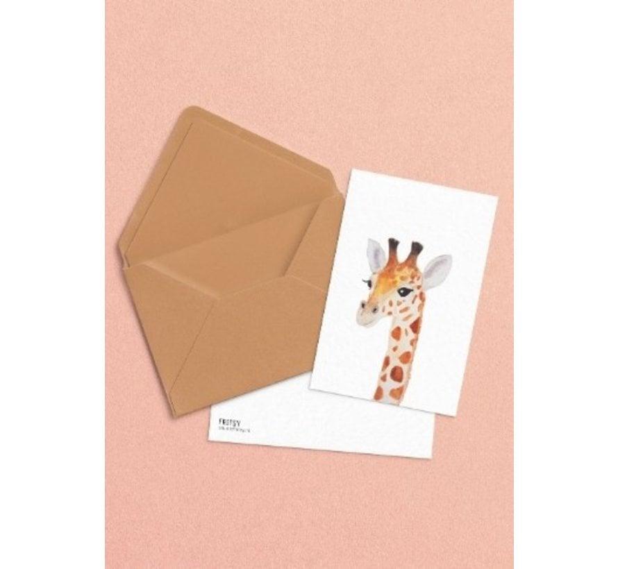 Postkaart Giraffe