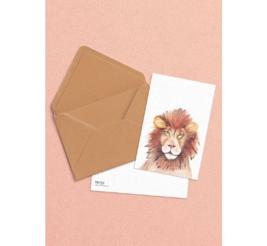 Postkaart Leeuw