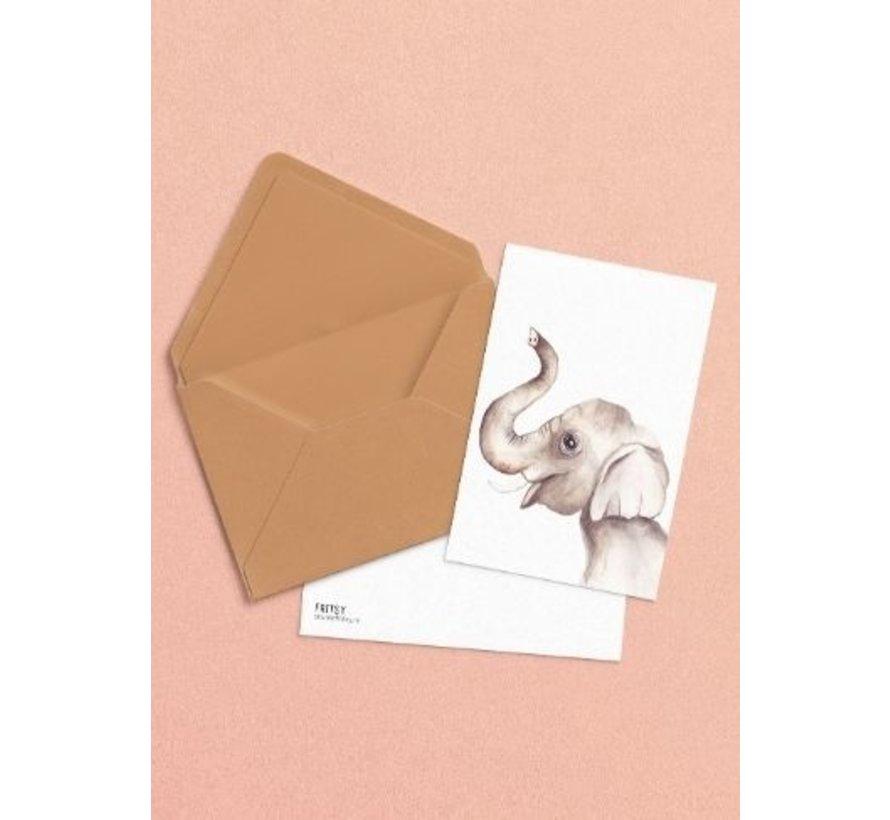 Postkaart Olifant