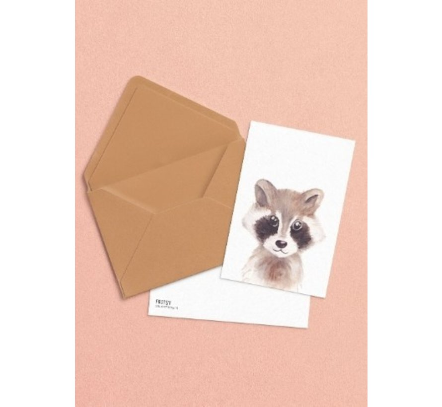 Postkaart Wasbeer