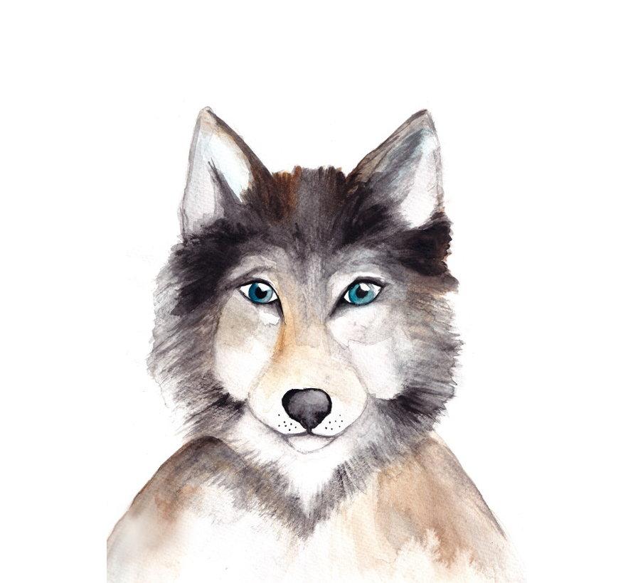 Postkaart Wolf